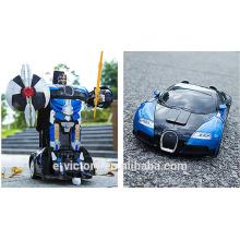 Toy robot track transform robot toy remote control car