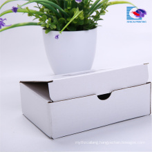 Folable White Corrugated Cardboard Ruse shipping box For Garment