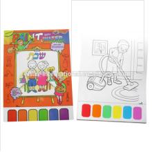 pintura de acuarela, juegos de pintura, niños pintando el libro