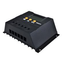 60A Regulador de carga del panel de batería 60A PWM 12V / 24VDC con la exhibición del LCD Cargador solar
