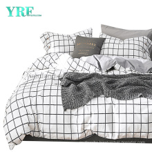 Cottage Cotton Fabric Bed Sheet Set New Product Made in China White Plaid