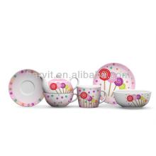 Candy Ceramic Breakfast Dinnerware Set