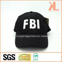 Baumwollbohrer-Armee-Schwarzes Fbi-Stickerei-Baseballmütze