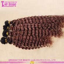 Фабрика цена высокого качества горячие продажи 100% девственница Евразийской глубокая волна волос блондинка Реми Ombre утка