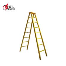 Fibra de vidrio FRP aislamiento amarillo 2 escalera escalera