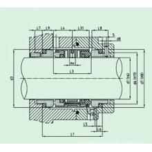 Стандартное механическое уплотнение для насос (HUU803)