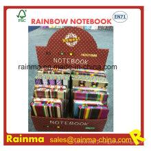 Caderno de capa dura de pano em embalagem de caixa de exibição