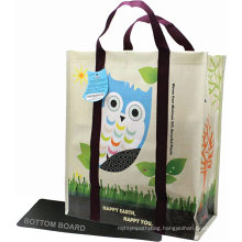 Promotional reusable laminated pp non woven promotional grocery packaging bag