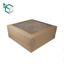 Paper Packaging Box for Cupcake Cake Box With Clear Plastic PET Window