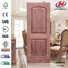 JHK-S01 Slot de profondeur 12MM Modèle HDF Pelle de porte de placage en bois de rose largement utilisée pour la porte de projet en Arabie Saoudite
