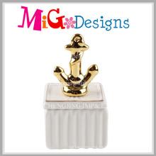 Caja de joyería de cerámica del ancla de la nueva llegada para la decoración