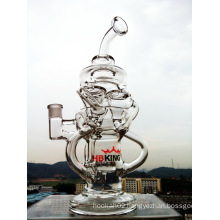 Factory Price 2016 Best Popular Wholesale Recylcer Glass Water Pipe