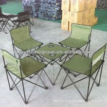 Nuevo diseño camping mesa plegable, sistema que acampa de la lona
