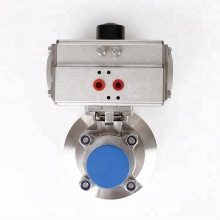 Stainless Steel Clamped Tank Bottom Pneumatic Ball Valve