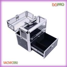 Крокодиловая ПВХ и акриловая коробка тщеславия Easy Carry Nail Beauty Box (SACMC092)