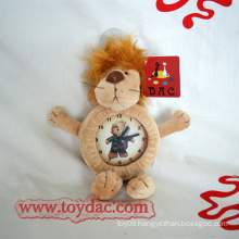 Plush Clock Toy Lion Clock Toy