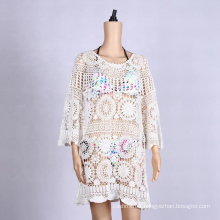 beach wear kaftan dress bohemian crochet beach wear