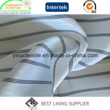 100% Polyester Yarn Dyed Stripe Sleeve Lining Fabric for Suit