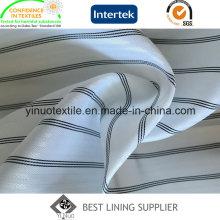 100% полиэстер Пряжа окрашенная полоса Ткань рукавная подкладочная