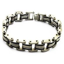 Inoxidável popular aço inoxidável personalizado pulseiras baratas para homens
