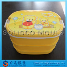 Plastic disposable lunch box mold
