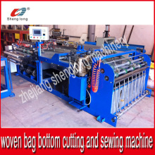 Machine automatique de découpage et de couture pour rouleaux tissés en plastique PP