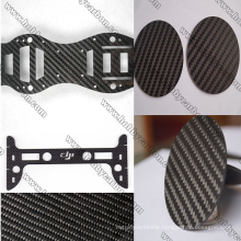 1.5x250x400mm twill matte carbon fiber sheet CNC cutting