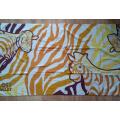 (BC-BT1020) Toalha de praia colorida 100% veludo cartonado