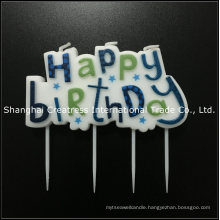 Factory Direct Paraffin Wax Blue Big Awesome Birthday Cake Candles