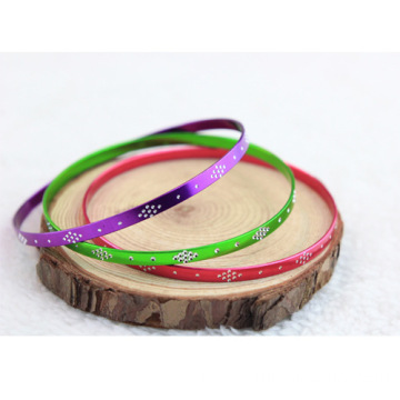 Customized Engraved Aluminum Bangle Sparkling Bangles