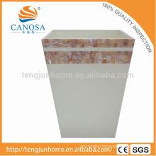 Latest Design Pink shell handmade waste bin