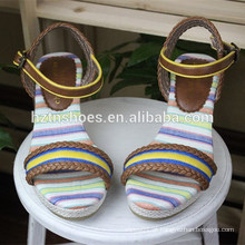 Woman Stitching Sandal Wedge Splicing único