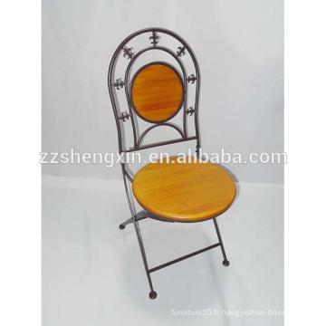 Chaise à dossier à dossier, chaise pliante en métal à vendre