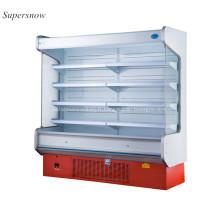 Promenade verticale dans un réfrigérateur de supermarché refroidisseur