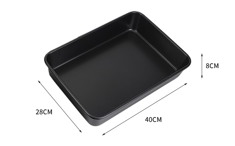 "16""rectangular carbon steel cake pan-black01"
