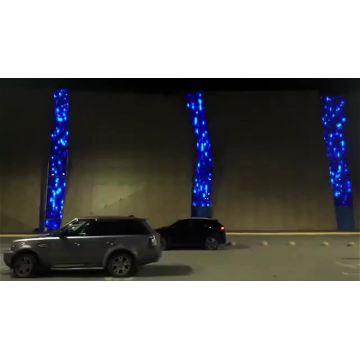 Iluminação de fachada cortina de luz programável led