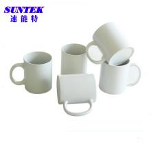 Canecas cerâmicas revestidas brancas da sublimação 6oz (SKB33)