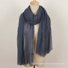 Leisure neutral style plain solid viscose shawl