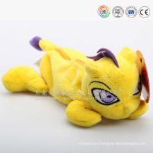 Hot sale plush animal shaped zipper pen case, plush dragon pencil case, new design dragon pen bag