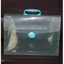 Bolso de plástico de la impresión de encargo de la fábrica para el archivo (bolso del archivo de los PP)