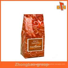 OEM Accept packaging material flat bottom printable aluminum foil coffee bag