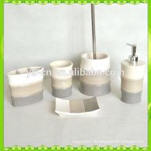 Western Design Bambus Form Keramik Badezimmer Set
