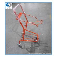 Carrinhos de compras de cesta de supermercado vermelho