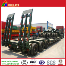 Best Selling 3 Axles Lowbed Flat Bed Trailer