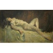 Портрет обнаженной женщины масляной живописи для дома Decortaive Ebf-039