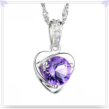 Crystal Pendant Necklace 925 Sterling Silver Jewelry (CN0007)