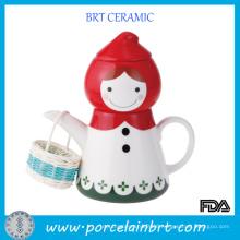Novelty Red Riding Hood Little Girl Porcelain Teapot Gift