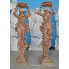 Maceta de jardín de mármol de piedra (QFP262)