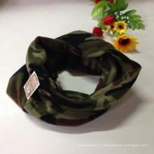 Army Green Fleece Coucou-écharpe Polaire Maillot militaire en tricot
