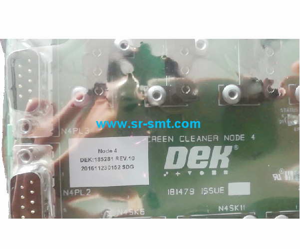 DEK 185281 Node 4 Under Screen Clean Complete Assembly